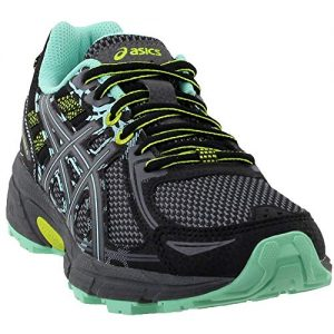 ASICS Women's Gel-Venture 6 Running-Shoes,Black/Carbon/Neon Lime