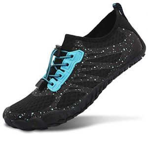 L-RUN Athletic Water Shoes for Swimming Quick Dry Black Women