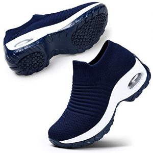 STQ Women's Mesh Slip on Sneakers Casual Walking Shoes Running