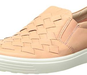 ECCO Women's Soft 7 Slip-on Sneaker, Rose dust Woven