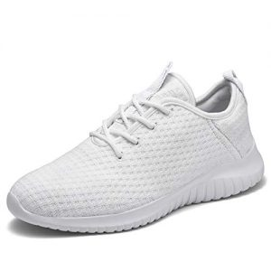 TIOSEBON Women's Lightweight Golf Shoes Breathable Walking Sneakers 6 US All White