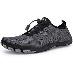 IKENIP Mens Womens Water Shoes Barefoot Quick Dry Aqua Wide Toe