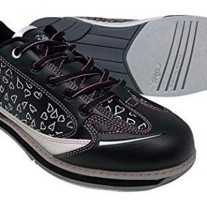 SaVi Bowling Women's Vienna Hearts White/Black/Pink Bowling Shoes