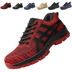 SUADEX Steel Toe Shoes Men Women, Work Shoes Breathable