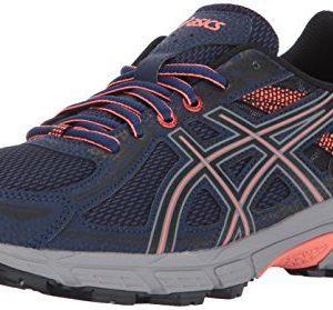 ASICS Women's Gel-Venture 6 Running-Shoes,Indigo Blue/Black/Coral