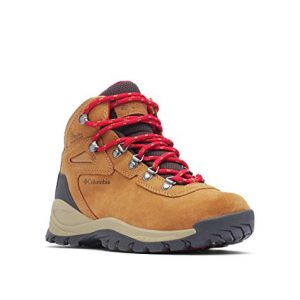 Columbia Women's Newton Ridge Plus Hiking Boot, Elk/Mountain Red
