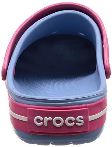 crocs unisex-adult Crocband Clog, chambray blue/paradise pink SPORTY, STYLISH AND COMFORTABLE: The Crocs Crocband Clogs characteristic dependable cushioned consolation, a sporty design, and quite a lot of energy-boosting colours and graphic designs, making them the Crocs ladies and men want; Show your stripes LIGHTWEIGHT: These Crocs for women and men are extremely light-weight, water-friendly and buoyant; The Croslite foam provides an Iconic Crocs Comfort that's excellent for stress-free at dwelling or hanging out at a sports activities recreation VENTILATION AND DURABILITY: These revolutionary Crocs clogs for ladies and men provide a sturdy construct with superior air flow and breathability; The design helps drain water and particles when kickin' round in moist situations MAKE THEM YOUR OWN: These ladies's and males's Crocs provide a roomy and beneficiant match that's certain to match your foot; The Crocs clogs will be personalized with Jibbitz charms to mirror your individual private aptitude CROCS FOR WOMEN AND MEN: The sporty Crocband Crocs are enjoyable to put on inside and outside; The choices are infinite if you increase your wardrobe with these comfy clogs crocs unisex-adult Crocband Clog, chambray blue/paradise pink, 9 US Men / 11 US Women.