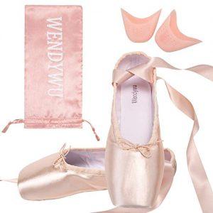 Wendy Wu Girls Womens Dance Shoe Pink Ballet Pointe Shoes (7)