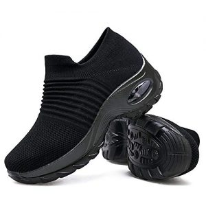Women's Walking Shoes Sock Sneakers - Mesh Slip On Air Cushion Lady Girls