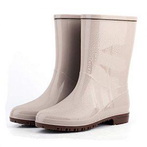 Yvmurain Women's Waterproof Mid-Height Rain Boot Rubber Garden