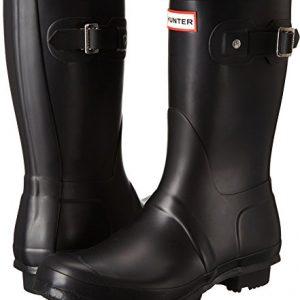 Hunter Women's Original Short Rain Boot,Black Matte