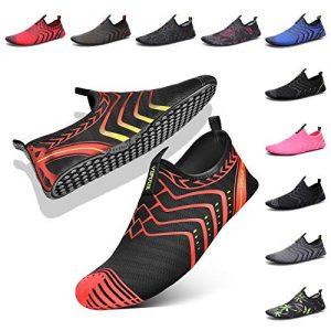 VIFUUR Womens Mens Water Shoes Comfortable Barefoot Shoes