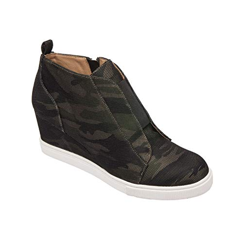 Felicia - Our Original Platform Wedge Sneaker Bootie Camo
