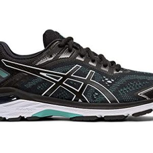 ASICS Women's 7 Running Shoes, 7.5M, Black/Black