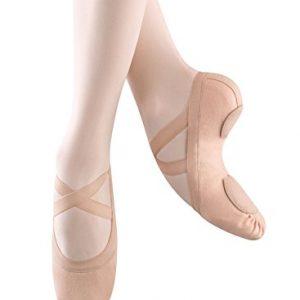 Bloch Dance Women's Synchrony Split Sole Stretch Canvas Ballet Slipper/Shoe, Pink, 6.5 Narrow