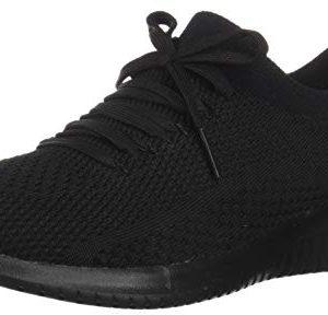 Skechers Women's Ultra Flex Statement Sneaker, Black/Black