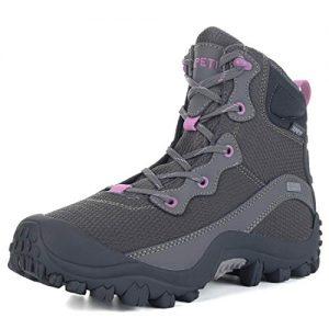 SKENARY Women's Outdoor Mid Waterproof Trekking Hiking Boots
