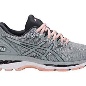 ASICS Women's Gel-Nimbus 20 Running Shoe, mid grey/mid grey/seashell pink