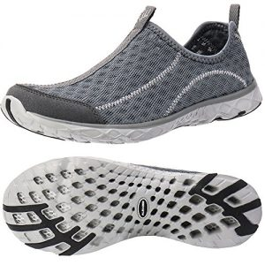 ALEADER Women's Slip On Aqua Water Shoe Dark Grey