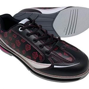SaVi Bowling Women's Roses Black/Red/White Bowling Shoes
