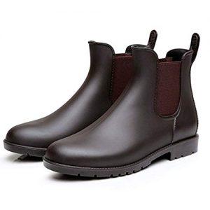 Buganda Women's Short Rain Boots - Waterproof Non Slip Ankle Rain Shoes