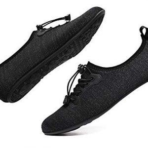 WaltZon Mens Womens Swim Water Shoes Barefoot Quick-Dry Aqua Socks