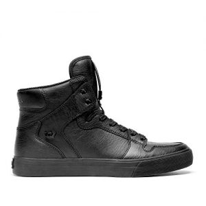 Supra Vaider Skate Shoe, Black, 7 Regular US