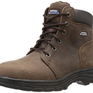Skechers for Work Women's Workshire Peril Boot, Dark Brown