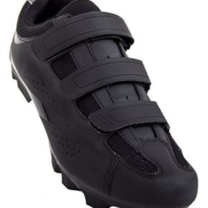 Tommaso Montagna 100 Men's Mountain Bike MTB Spin Cycling Shoe Compatible with SPD Cleats Black - 45