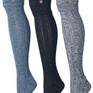 Tipi Toe Women's 3-Pairs Cozy Winter Super Soft Warm Over The Knee