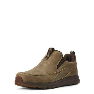 Ariat Men's Spitfire Slip On Western Boot, Brown Bomber, 10EE