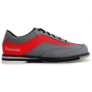 Brunswick Bowling Products Mens Rampage Bowling Shoes Right Hand- M US, Grey/Red, 9