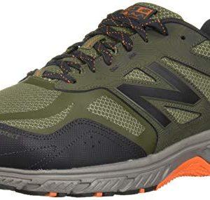 New Balance Men's 510v4 Cushioning Trail Running Shoe, Dark Covert Green/Phantom/Bengal Tiger, 11.5 D US
