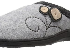 Acorn Women's Dara Slipper, Light Grey Button, Large