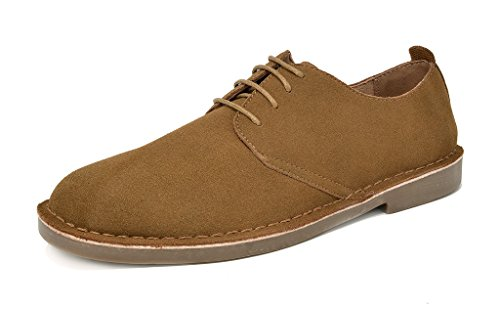 Bruno Marc Men's Tan Oxford Shoes Suede Leather Dress Shoes Francisco-Low - 13 M US