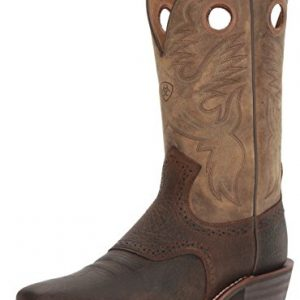 Ariat Men's Heritage Roughstock Western Cowboy Boot, Earth/Brown Bomber, 11 EE