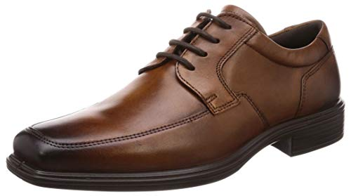 ECCO Men's Minneapolis Apron Toe Tie Oxford Amber