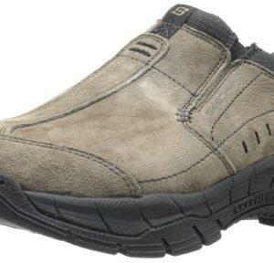 Skechers Men's Rig Mountain Top Relaxed Fit Memory Foam Sneaker,Brown,11.5 M US