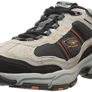 Skechers Sport Men's Vigor 2.0 Trait Memory Foam Sneaker, Taupe/Black, 8 XW US