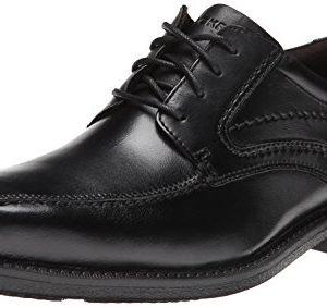 Rockport Men's Style Leader 2 Bike Toe Oxford Black Waxed Calf