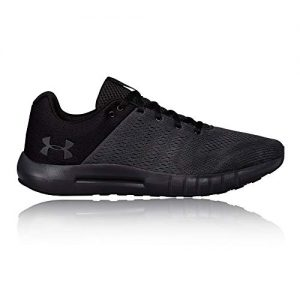 Under Armour mens Micro G Pursuit Running Shoe, Anthracite (104)/Black, 9.5