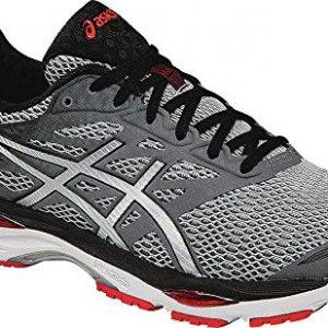 ASICS Men's Gel-Cumulus 18 Running Shoe, Carbon/Silver/Vermilion, 6.5 M US