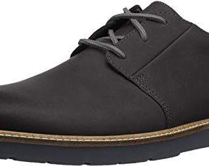 Clarks Men's Grandin Plain Oxford, Black Leather