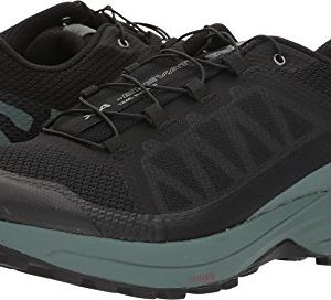 SALOMON Men's XA Elevate Trail Running Shoes, Black/Balsam Green/Black