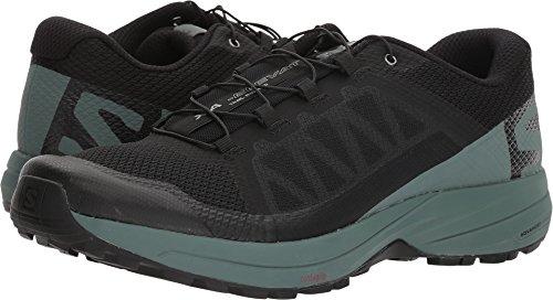 SALOMON Men's XA Elevate Trail Running Shoes, Black/Balsam Green/Black
