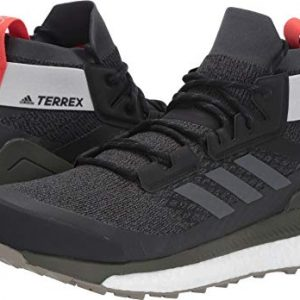 adidas outdoor Terrex Free Hiker Boot - Men's Black/Grey Six/Night Cargo, 9.5