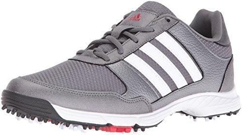 adidas Men's Tech Response Golf Shoe, Iron Metallic/White