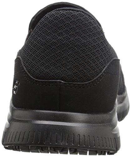 Skechers Men's Black Flex Advantage Slip Resistant Mcallen Slip On Skechers Men's Black Flex Advantage Slip Resistant Mcallen Slip On - 9.5 D(M) US.
