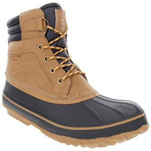 London Fog Mens Waterproof and Insulated Duck Boot Tan