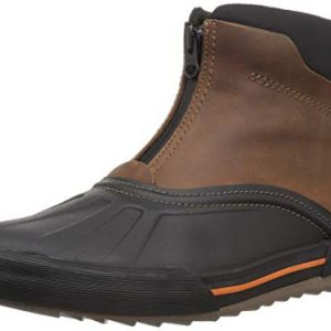 CLARKS Men's Bowman Top Ankle Boot, Dark tan Leather